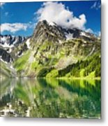 Lake Mountain Green Nature Landscape By Elvin Siew Chun Wai Metal Print