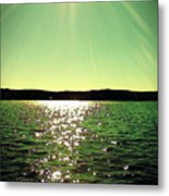 Lake Murray Sun Metal Print