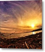 Lake Nipissing Sunset Callander Bay Metal Print