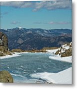 Lake Of Glass Winter Metal Print