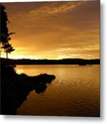 Lake Of Gold Metal Print