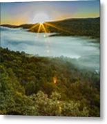 Lake Of The Clouds Sunrise Metal Print