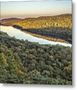 Lake Of The Clouds Sunset Metal Print