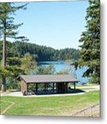 Lake Padden Picnic Shelter Metal Print