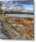Lake Pend D'oreille At Humbird Ruins 2 Metal Print