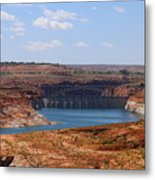 Lake Powell And Glen Canyon Dam Metal Print