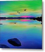 Lake Reflections 2 Metal Print