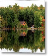 Lake Reflections Panorama 4370 4371 Metal Print