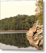 Lake Scranton Reflections Metal Print