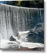 Lake Sequoyah Dam Falls - Highlands, North Carolina Metal Print