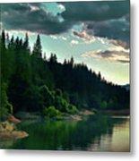 Lake Shasta Painterly Metal Print