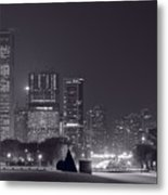 Lake Shore Drive Chicago B And W Metal Print