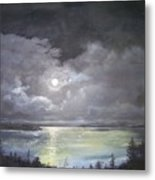 Lake Shore Moonscape  Metal Print