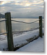 Lake Snow Metal Print