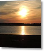 Lake Sunset-midrange Metal Print