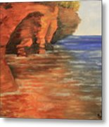 Lake Superior Cave Metal Print