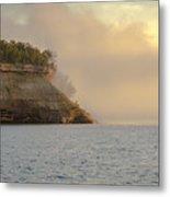 Lake Superior Fogbank Metal Print