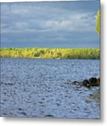 Lake Superior Shoreline After A Brief Storm Metal Print