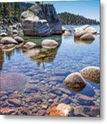 Lake Tahoe Rocks Metal Print