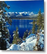 Lake Tahoe Winter Metal Print by Vance Fox