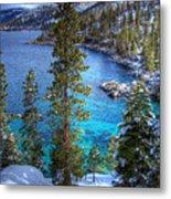 Lake Tahoe Winterscape Metal Print