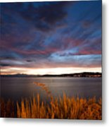Lake Taupo Sunset Metal Print