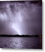 Lake Thunderstorm Metal Print