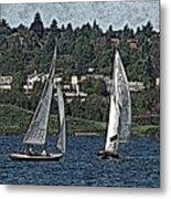 Lake Union Regatta Metal Print