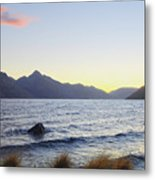 Lake Wakatipu At Sunset Metal Print