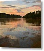 Lake Wedowee Alabama At Sunset Metal Print
