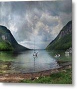 Lake Willoughby  Panorama One Metal Print