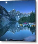 Lake With Moon At Four Am Metal Print