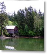 Lakebay Green Water  Metal Print