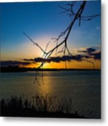 Lakeshore Sunset Metal Print
