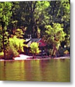 Lakeside Cabin In Idaho Usa Metal Print
