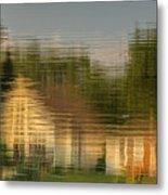 Lakeside Living On Wiggins Lake - Abstract Metal Print