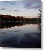 Lakeside Moon Metal Print