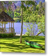Lakeside Relaxation Metal Print