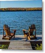 Lakeside Seating For Two Metal Print