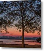 Lakeside Sunrise Metal Print