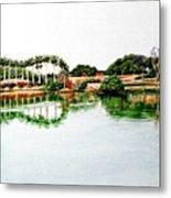 Lakeview Reflections Metal Print