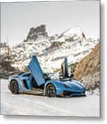 Lamborghini Aventador Sv Metal Print