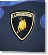 Lamborghini Emblem Metal Print