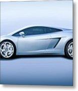 Lamborghini Gallardo 'profile Of Terror' Metal Print