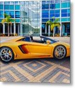 Lamborghini Gold Metal Print