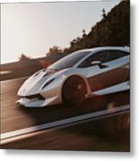 Lamborghini Sesto Elemento - 12 Metal Print