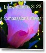 Lamentations His Compassions Never Fail Metal Print