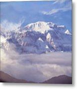 Lamjung Himal Peak Above The Clouds Metal Print