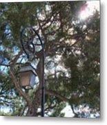 Lamp And Tree Metal Print