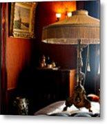 Lamp At Glensheen Metal Print